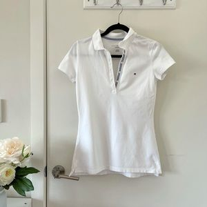 Tommy Hilfiger Classic Fit White Polo Shirt Size XS